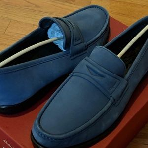 "Salvatore Ferragamo ""Connor"" Leather Penny Loafers"
